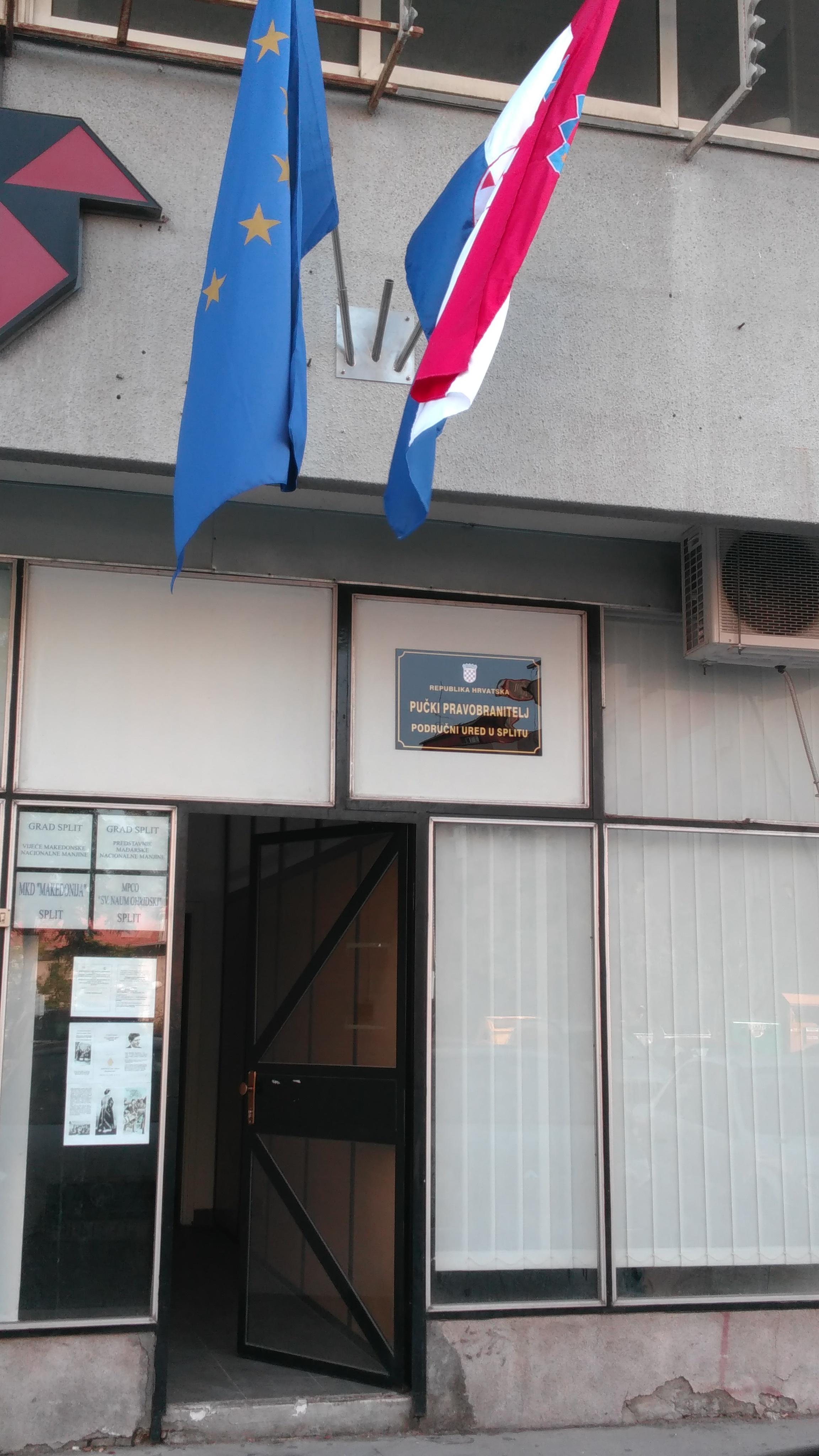 Split podrucni ured ulaz