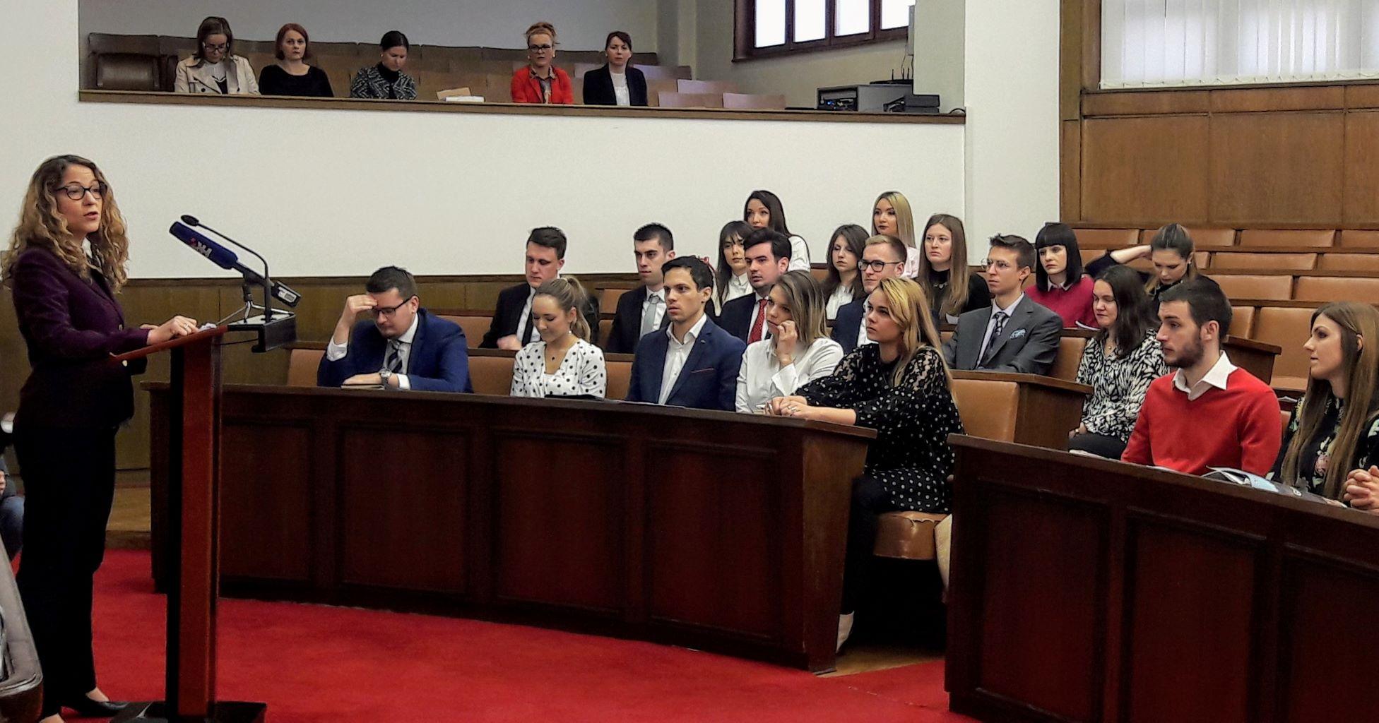 Croatian ELSA organised moot parliamentary session in Sabor