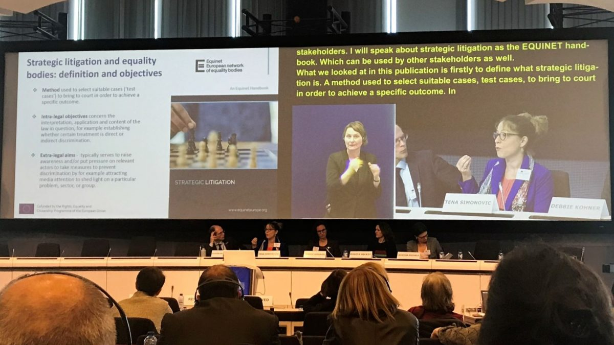 Deputy Ombudswoman at 2019 EU Work Forum on the rights of persons with disabilities