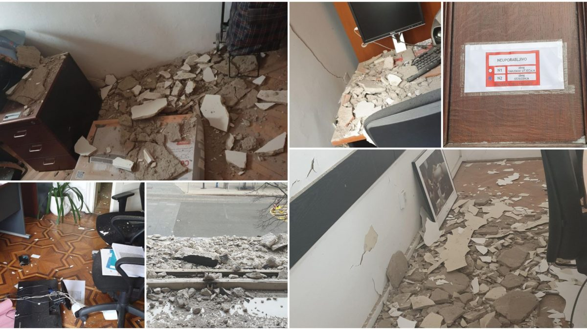 Hindered working conditions due to damage during the Zagreb earthquake