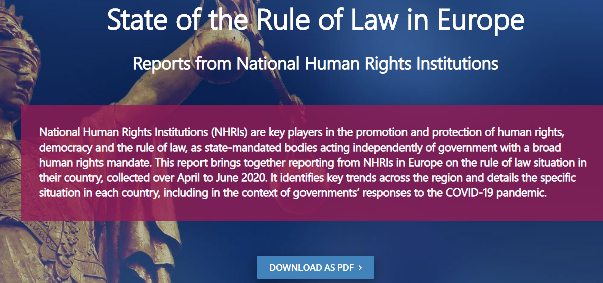 New ENNHRI report – State of the Rule of Law in Europe