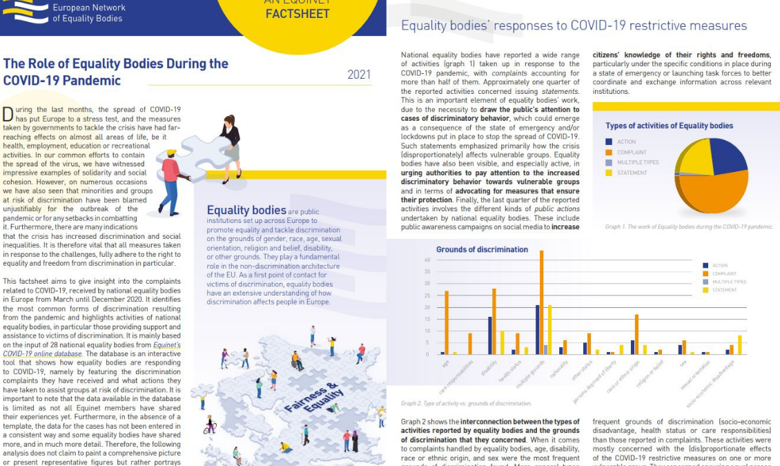 The Role of the European Equality Bodies During the COVID-19 Pandemic – Casework Overview